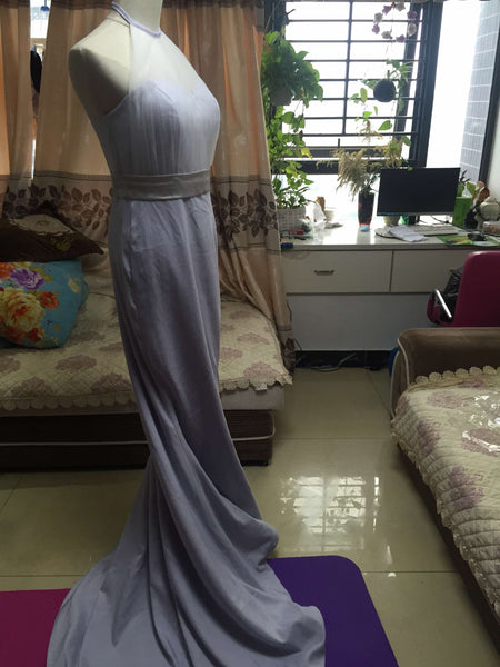 D247 Long Chiffon Mermaid Evening Dresses, Empire Long Prom Gowns