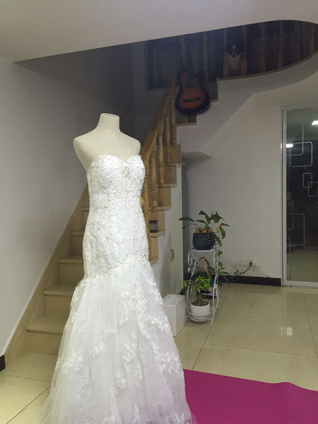 D250 Mermaid Sleeveless Wedding Bridal Gowns ,Mermaid Wedding Dresses