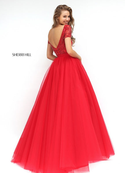D267 New Fahion Handmade Beaded Long Prom Gowns, Hot Red Prom Dresses Evening Dresses