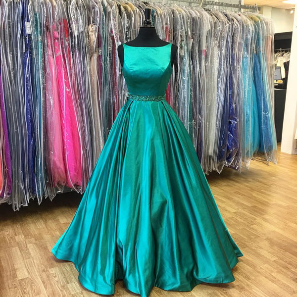 E16 2017 Prom Dress,Long Prom Dress,Dark Teal Green Prom Dress,Formal Evening Dress