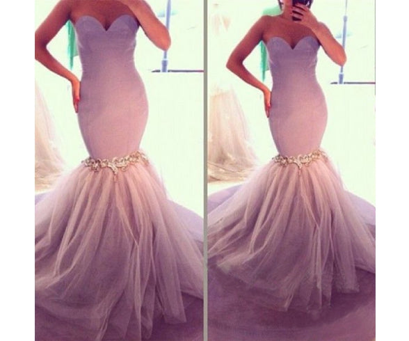 E17 Mermaid Prom Dress,Sweetheart Prom Dress,Sexy Prom Dress,Lace Prom Dress