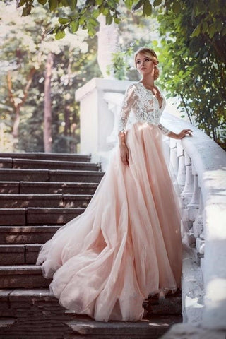 E20 A Line Wedding Dresses,Lace Bodice Wedding Dresses,Vintage Wedding Dresses,Handmade Bridal Gowns