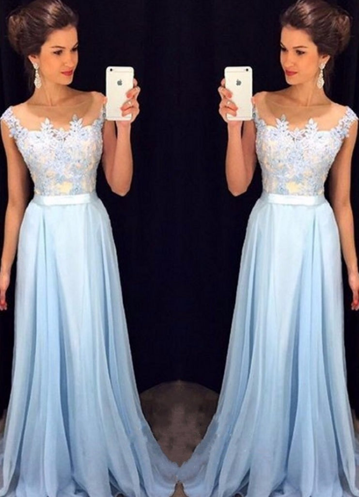 E23 appliques bridesmaid dresses, chiffon bridesmaid dresses, long bridesmaid dresses, cute bridesmaid dresses