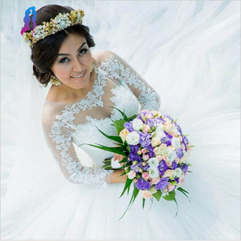 E39 Charming Wedding Dress,White Tulle Wedding Gown,Bridal Dress