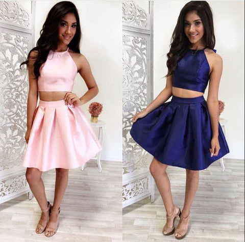 E42 Cute 2 pieces short prom dresses ,evening dress,homecoming dress