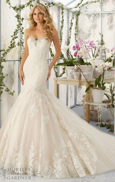 L114 Sweetheart Handmade Beaded Wedding Dresses, Sleeveless Wedding Dress, Lace Wedding Dresses
