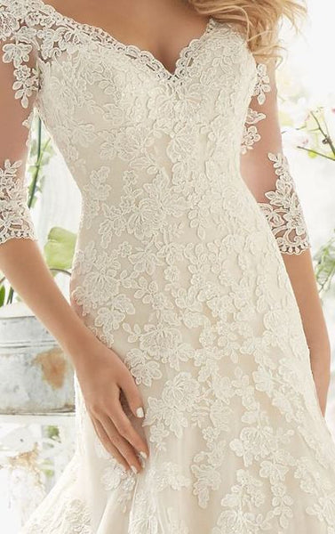 L115 Long Sleeve Wedding Dresses, Plus Size Wedding Dresses, Elegant Mermaid Wedding Dresses