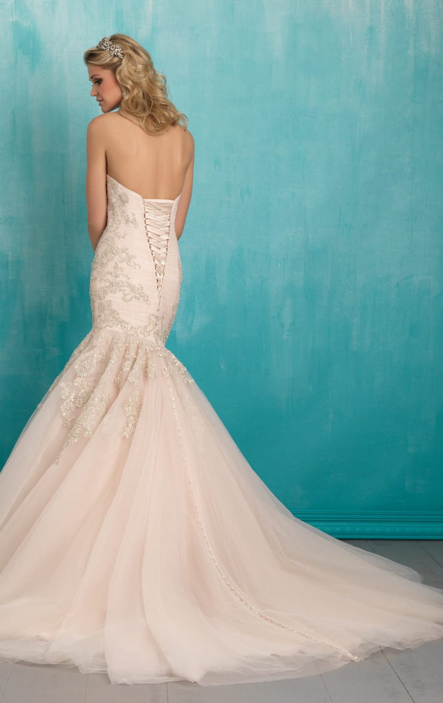 L116 Sweetheart Beading Wedding Gowns, Mermaid Wedding Dress,Mermaid ...