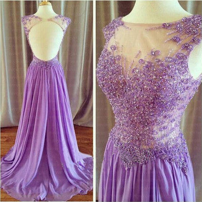 L127 Lilac Long Formal Evening Dresses Long Party Homecoming Pageant Party Dresses