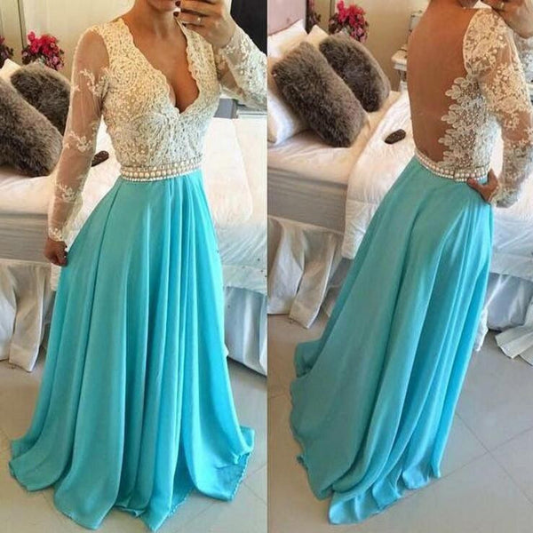 L226 Cheap Long Evening Dresses,Woman Evening Dresses Elegant,Light Blue Evening Dresses