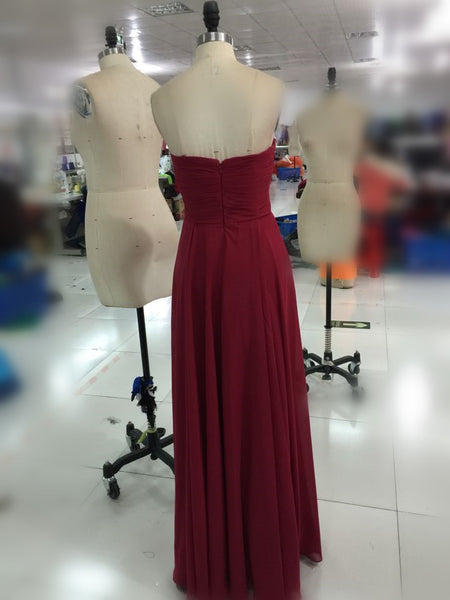 L187 Real Photo Evening Dresses, Burgundy Long Dresses,Red Wine Long Prom Gowns