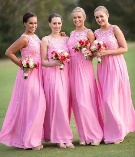 L196 Long Chiffon Arabic Style Evening Dresses, Cheap Chiffon Bridesmaid Dress