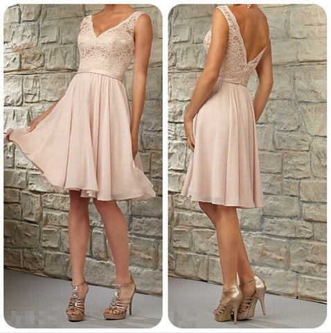 L24 Top Selling A Line Prom Gowns,Short Knee-Length Woman Dresses Bridesmaid Dress