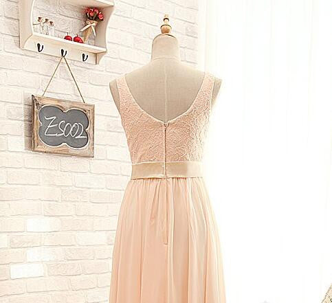 L26 A Line Tank Long Pink Prom Gowns Long, Evening Dresses