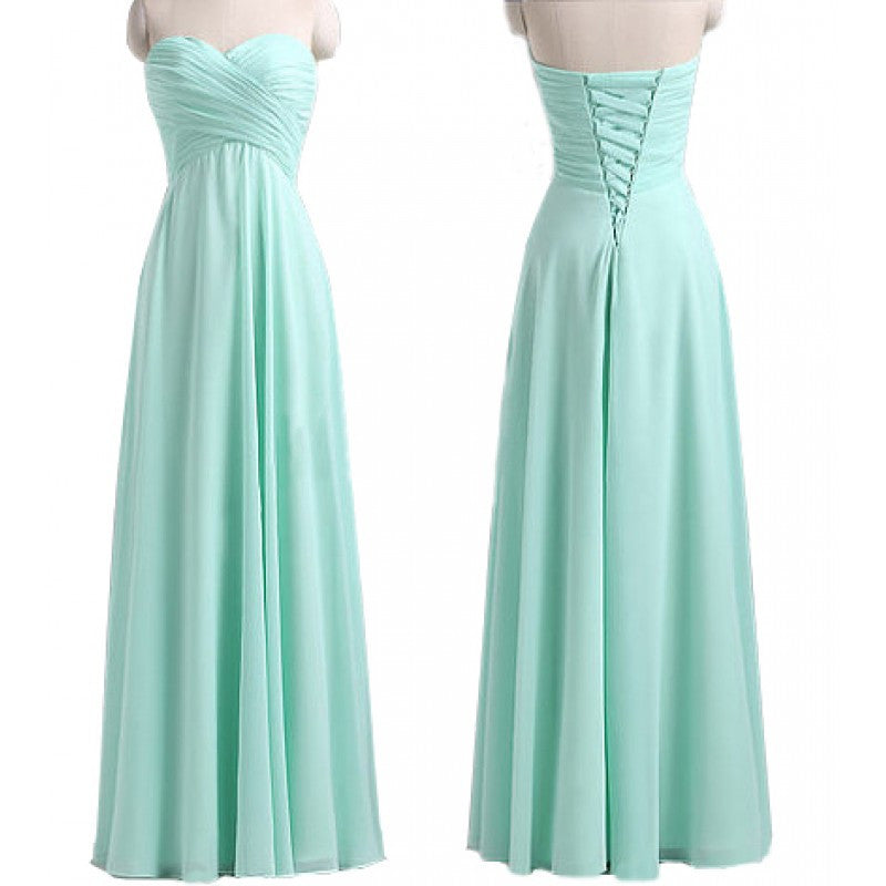 L5 Graduation Dresses Formal Women Party Gowns Elegant Empire Waist Long Bridesmaid Dresses