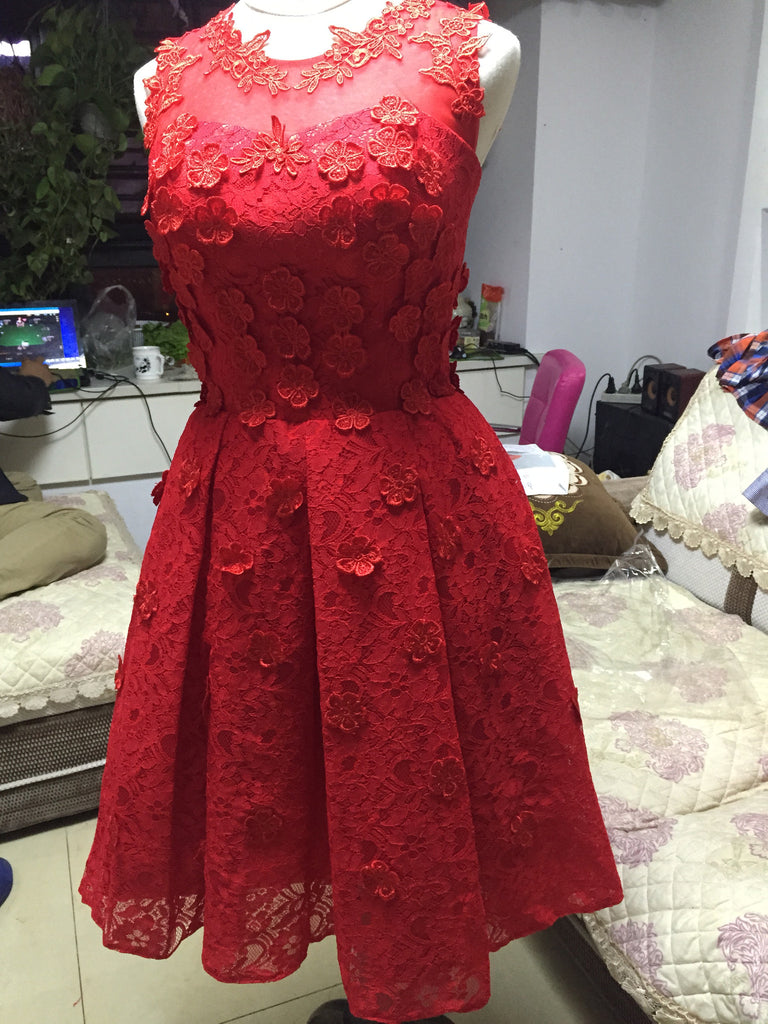 L70 Custom Made Lace Homecoming Dresses, Short Homecoming Dresses,Short Prom Dress