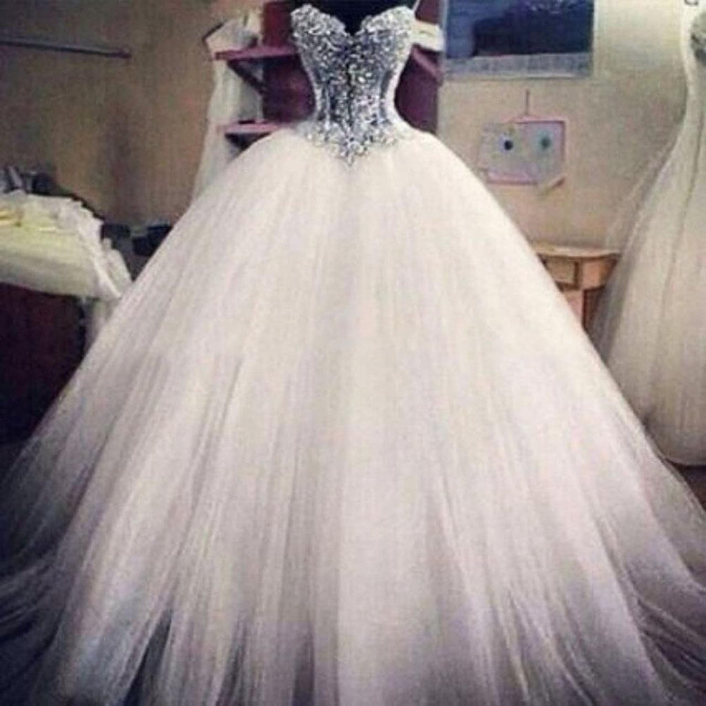L73 Luxury Wedding Dresses,Beading Wedding Dresses,Plus Size Wedding Dresses,Wedding Dresses,Wedding Dresses for Bride