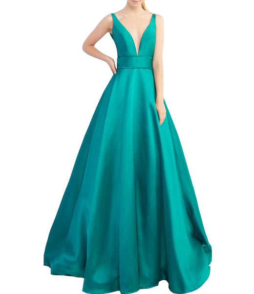 Dress Under $100,New Coming Prom Dress,Empire Prom Dress,Deep V Neck Prom Dress,Charming Lady Dress