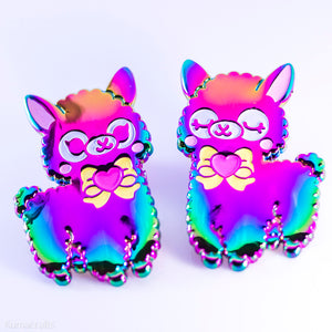 Rainbow Alpaca Pin