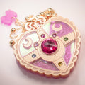 Heart Moon Brooch
