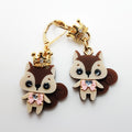 Kuma Village Squirrel Earrings