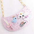 DAY 1: Fluffy Playtime Bib Necklace (30 Days of Unique Kawaii)