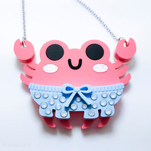 DAY 3: Crabby Pants Necklace or Brooch (30 Days of Unique Kawaii)
