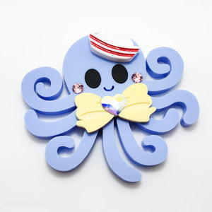 Tako-san Necklace or Brooch