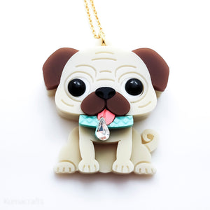 DAY 12: Puggers Necklace or Brooch (30 Days of Unique Kawaii)