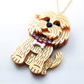 DAY 13: Beckham the Cockapoo Necklace or Brooch (30 Days of Unique Kawaii)