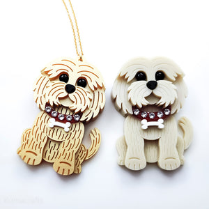 Beckham the Cockapoo Necklace or Brooch