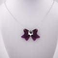 Sailor Saturn Crystal Bow Necklace