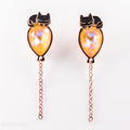 Kitty Balloon Earrings (Black Kitty)