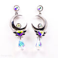 PRE-ORDER Sterling Silver Crescent Twilight Earrings