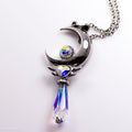 PRE-ORDER Sterling Silver Crescent Twilight Wand Necklace