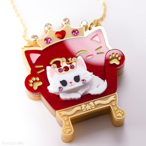 Her Meowjesty on Her Throne Necklace or Brooch