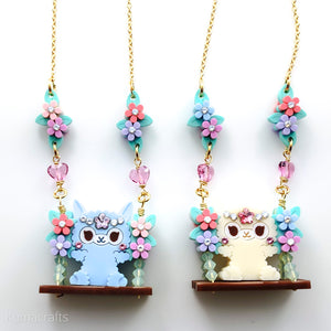 Alpaca Floral Swing Necklace