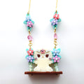 DAY 17: Alpaca Floral Swing Necklace (30 Days of Unique Kawaii)