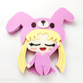 DAY 18: Sleepy Usagi Brooch or Keychain (30 Days of Unique Kawaii)