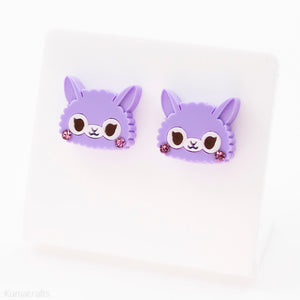 Candy Alpaca Stud Earrings