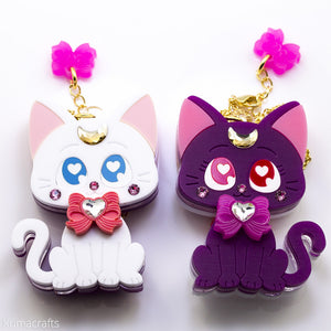 Double Sided Moon Kitty Necklace