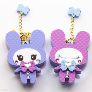 Slumber Bunny Double Sided Necklace