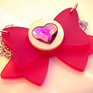 Chibi Moon Bow Necklace