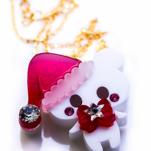 Santa Bear Necklace