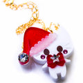 Santa Kitty Necklace