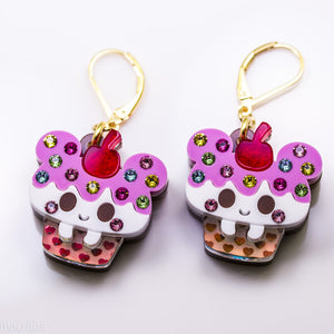 Kuma Cake Earrings