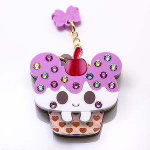 Kuma Cake Necklace or Brooch