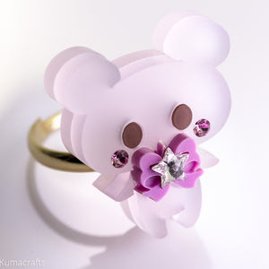 Frosted Kuma Ring
