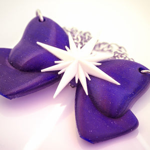 Sailor Saturn Bow Necklace