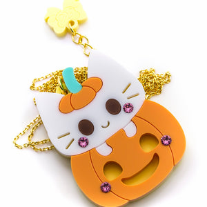 Pumpkin Surprise Necklace or Brooch